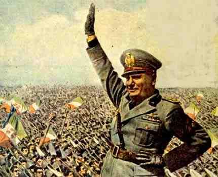 benito mussolini - italian fascist leader
